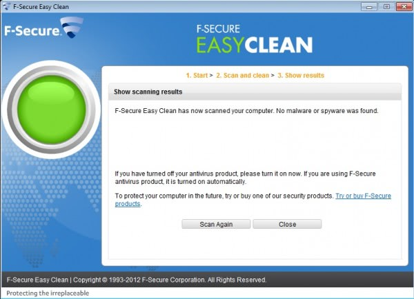 f-secure easy clean scan