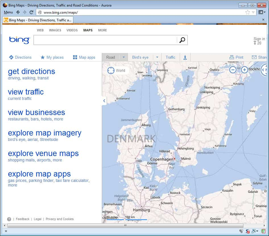 The New Bing Maps, What's Your Take? « WTI NewsBlog Directions Bing Maps on