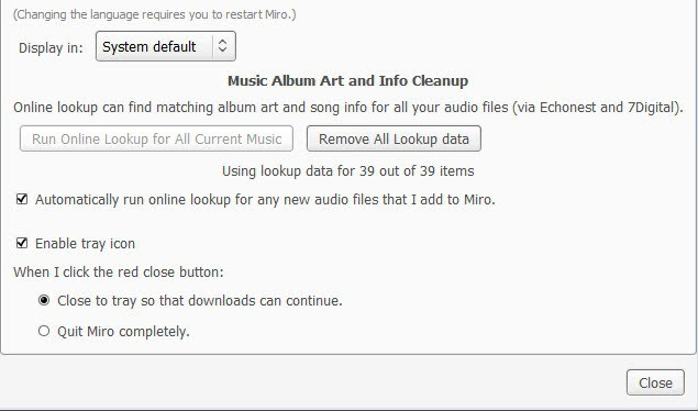 remove lookup audio