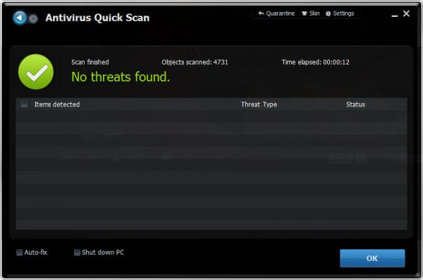 antivirus quick scan