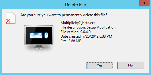 delete file are you sure you want to permanently delete this file