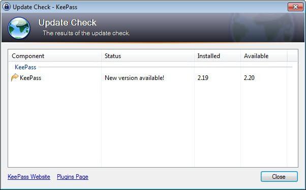 keepass 2.20 update