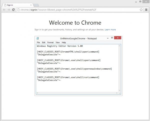 chrome desktop windows 8