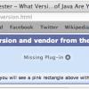 java missing plugin