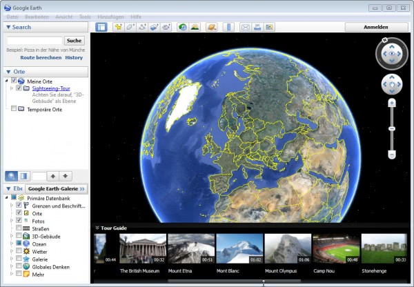 google earth tours