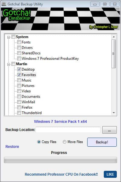how to make folders backup automatically to.another directory