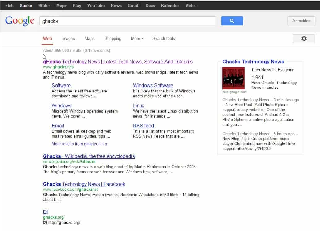 Google rolling out search tools on top - gHacks Tech News