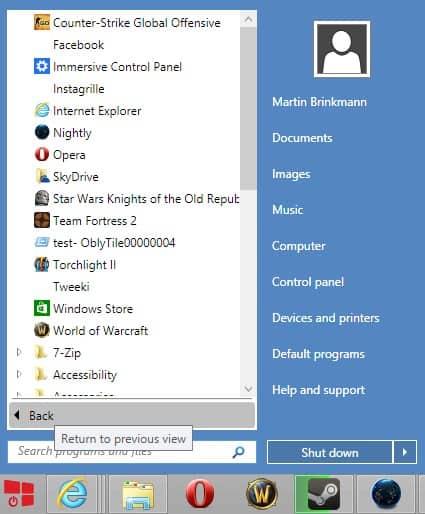 startw8 start menu