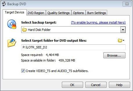 backup dvd