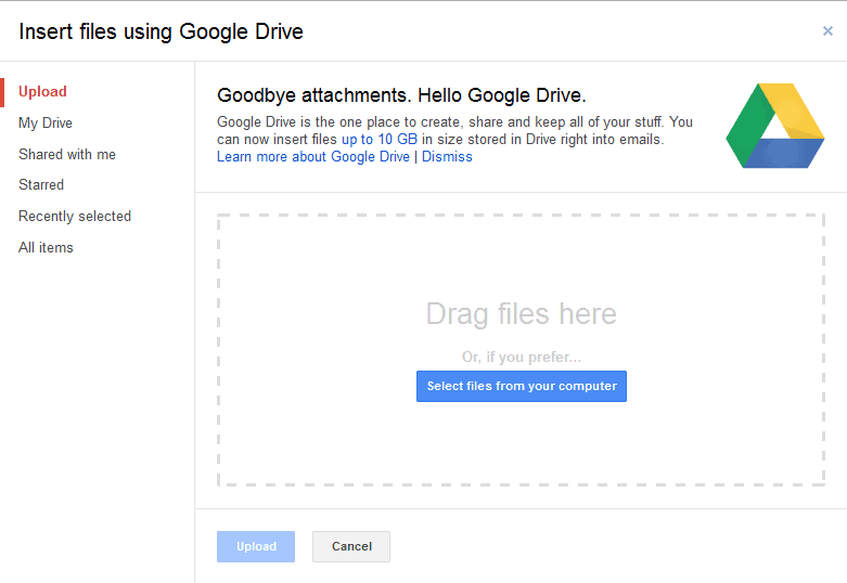 gmail sending large files using google drive ghacks With google drive send documents