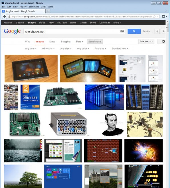 google images browse website