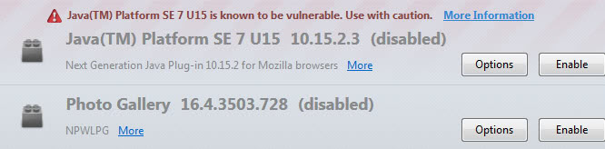 java blocked firefox screenshot