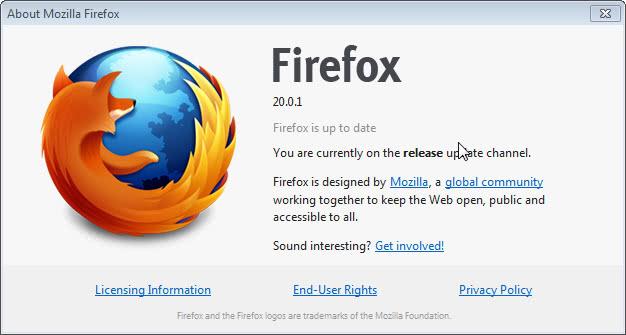 firefox 20.0.1 release