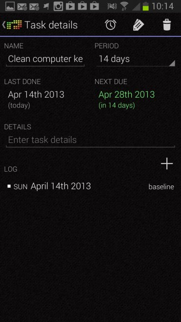 recurring tasks android 371x660 - How to keep track of tasks without fixed calendar schedule