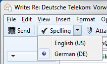 thunderbird spell checking dictionaries