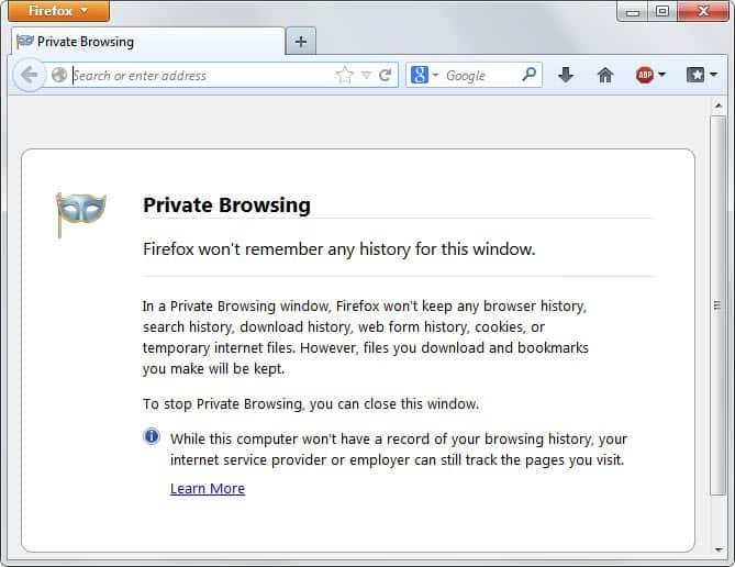 firefox portable private browsing