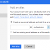 microsoft outlook.com add alias