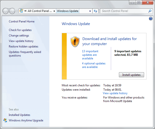 windows security updates june 2013