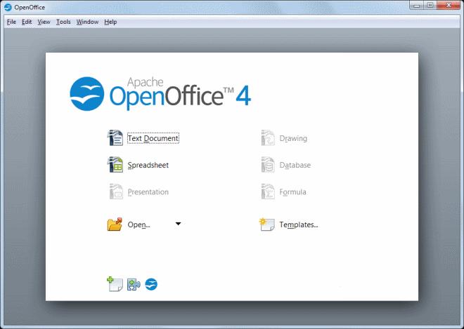 Apache OpenOffice 4.0.1 даровой сверток офисных приложений