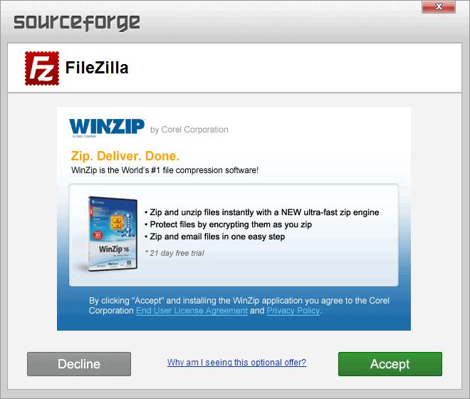 sourceforge adware