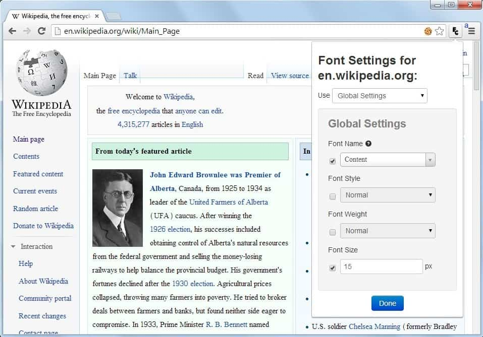 Change Font Sizes And Styles On Any Website With Font