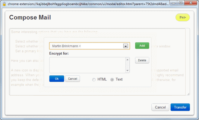 encrypt email messages