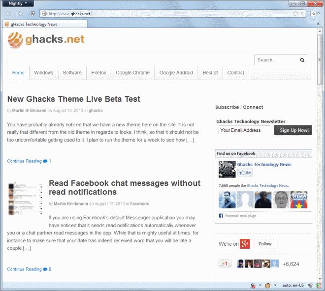 ghacks theme