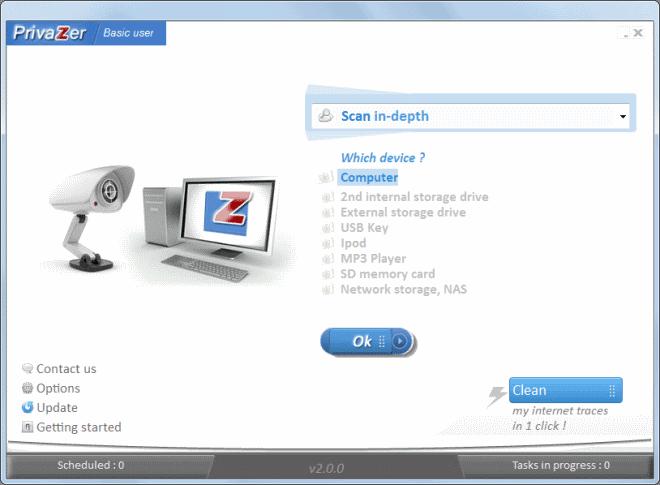 privazer 2.0 new interface