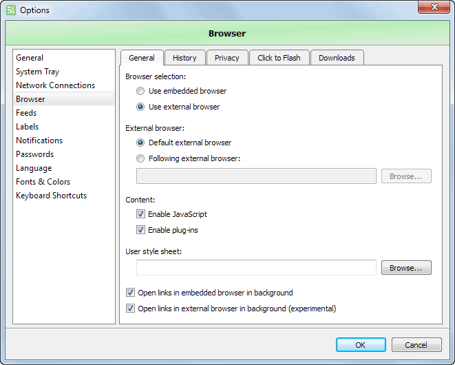 use external browser
