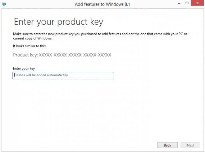enter product key
