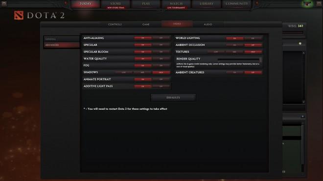 optimización de los gráficos del juego