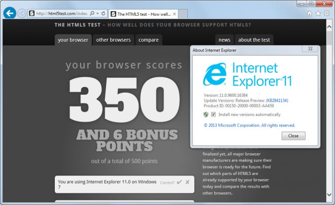 internet explorer 11 release preview