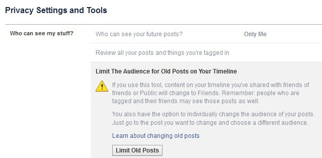 facebook limit old posts
