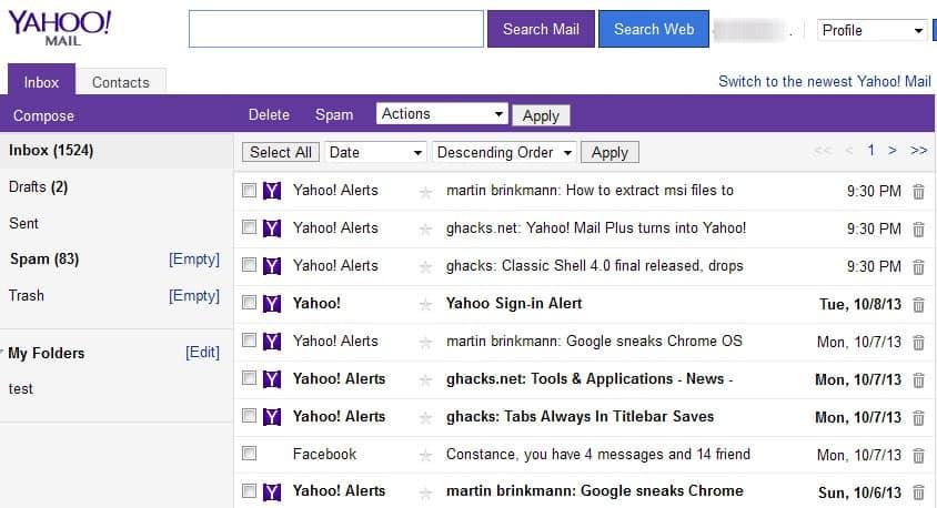 yahoo com email: