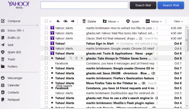 yahoo mail inbox text style