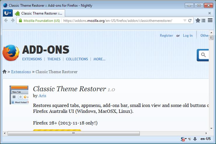 classic theme restorer