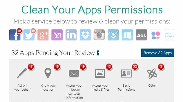 clean app permissions