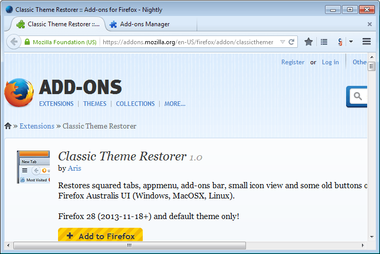firefox new interface