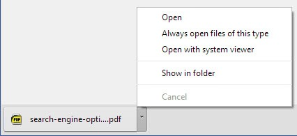 google chrome opens pdf file