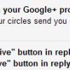 email via google+