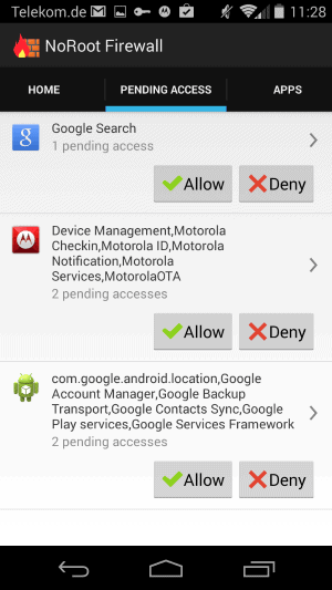 android block internet access