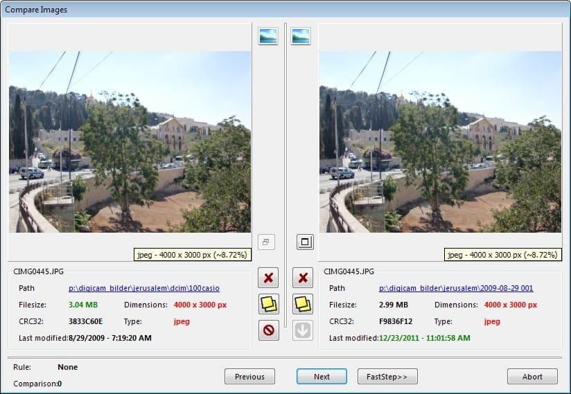 compare duplicate video files