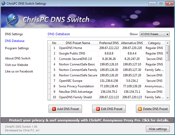 dns switch