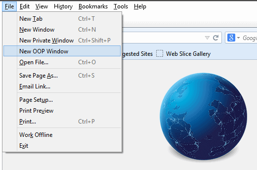 firefox oop window