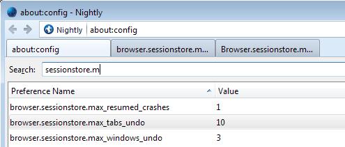 max tabs windows undo firefox
