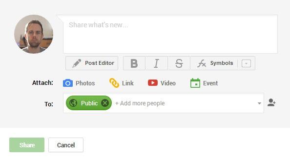 google+ format text