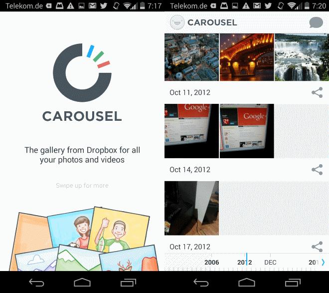 carousel dropbox media viewer