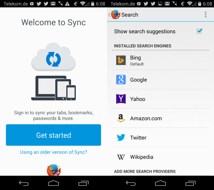 firefox 29 for android
