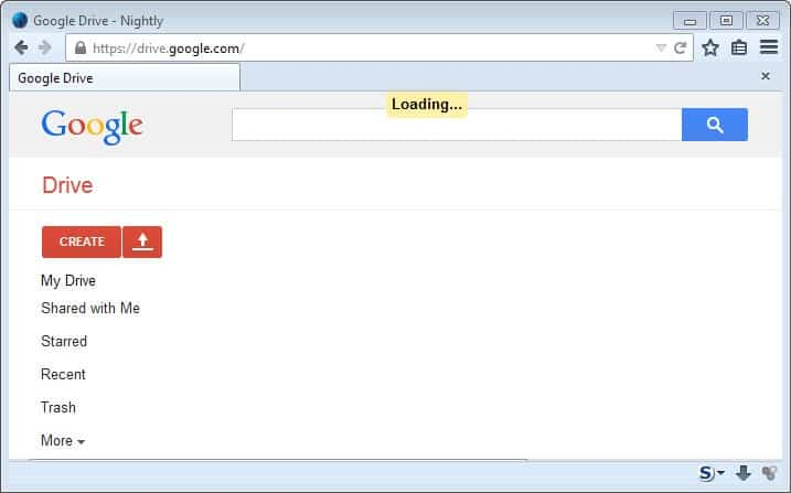 google drive loading error
