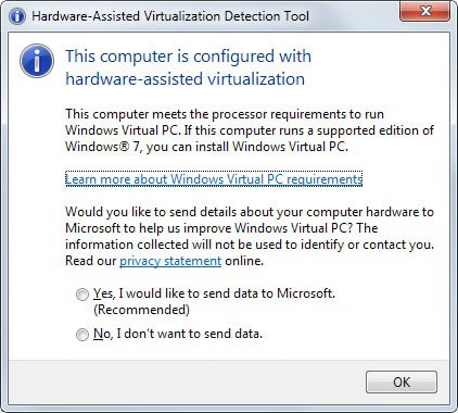 microsoft hardware assisted virtualization detection tool